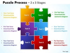 Consulting Diagram Puzzle Process 2 X 3 Stages Sales Diagram