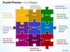 Consulting Diagram Puzzle Process 3 X 3 Stages Sales Diagram