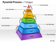 Consulting Diagram Pyramid Process 7 Stages With Arrow Marketing Diagram