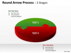Consulting Diagram Round Arrow Process 2 Stages Business Diagram
