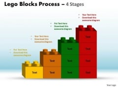 Consulting Diagram Sales Diagram Lego Blocks Process 4 Stages Strategy Diagram