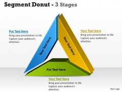 Consulting Diagram Segment Donut 3 Stages Sales Diagram