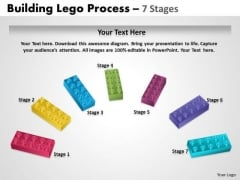 Consulting Diagram Semi Building Blocks 7 Stages Business Framework Model