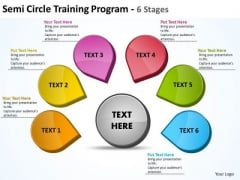 Consulting Diagram Semicircle Training Program 6 Stages 17 Business Diagram