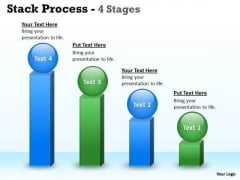 Consulting Diagram Stack Pocess With 4 Stages Sales Diagram