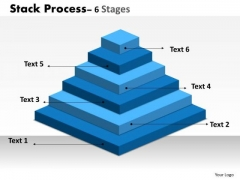 Consulting Diagram Stack Process 6 Stages Of Business Marketing Diagram