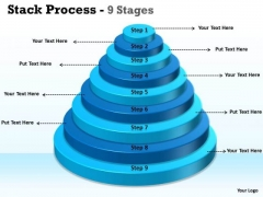 Consulting Diagram Stack Process With 9 Steps Of Growth Strategy Diagram