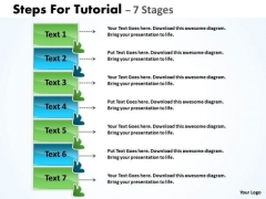 Consulting Diagram Steps For Tutorial With 7 Stages Marketing Diagram