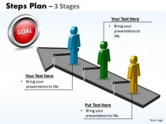 Consulting Diagram Steps Plan 3 Stages Style Marketing Diagram