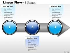 Consulting Diagram Strategy Diagram Linear Flow 3 Stages Sales Diagram