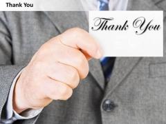 Consulting Diagram Thank You Presentation Slide Business Diagram