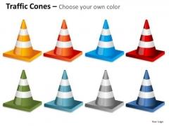 Consulting Diagram Traffic Cones Fallen Business Framework Model