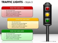 Consulting Diagram Traffic Lights Style Business Cycle Diagram