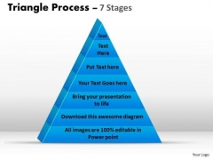 Consulting Diagram Triangle Process 7 Stages Of Business Process Business Diagram
