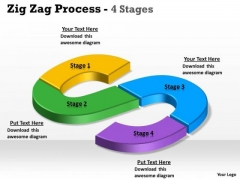 Consulting Diagram Zig Zag 4 Step Strategy Diagram