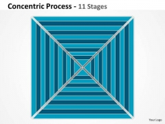 Marketing Diagram 11 Staged Square Concentric Diagram For Business Strategic Management