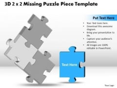 Marketing Diagram 3d 2x2 Missing Puzzle Piece Business Framework Model