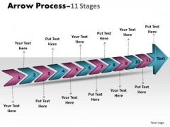 Marketing Diagram 3d Arrow Process 11 Stages Sales Diagram