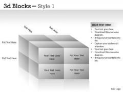 Marketing Diagram 3d Blocks Style Consulting Diagram
