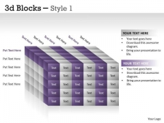 Marketing Diagram 3d Blocks Style Mba Models And Frameworks