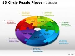 Marketing Diagram 3d Circle Puzzle Diagram 7 Stages Sales Diagram