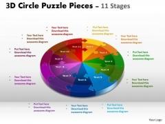 Marketing Diagram 3d Circle Templates Slide Layout 11 Stages Business Framework Model