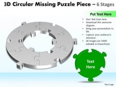 Marketing Diagram 3d Circular Missing Puzzle Piece 6 Stages 3 Strategy Diagram