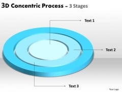 Marketing Diagram 3d Concentric Process 3 Stages Sales Diagram