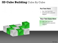 Marketing Diagram 3d Cube Building Cube By Cube Business Cycle Diagram
