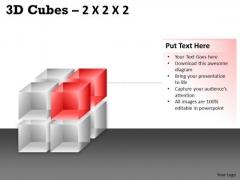 Marketing Diagram 3d Cubes 2x2x2 Consulting Diagram