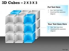 Marketing Diagram 3d Cubes 2x3x3 Consulting Diagram