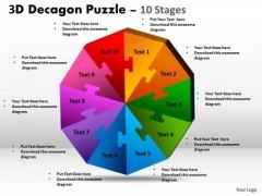 Marketing Diagram 3d Decagon Puzzle Diagram Process 10 Stages Business Diagram