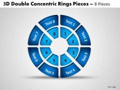 Marketing Diagram 3d Double Concentric Rings Pieces 2 Sales Diagram
