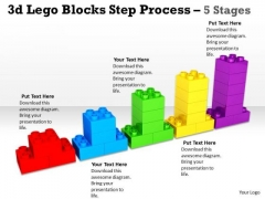 Marketing Diagram 3d Lego Blocks Step Process 5 Stages Business Cycle Diagram