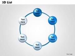 Marketing Diagram 3d List Consulting Diagram