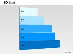 Marketing Diagram 3d List Diagram With 5 Stages Sales Diagram