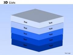 Marketing Diagram 3d Lists PowerPoint Slide Strategy Diagram
