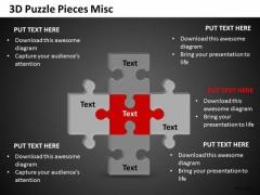 Marketing Diagram 3d Puzzle Pieces Misc Business Cycle Diagram