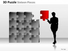 Marketing Diagram 3d Puzzle Sixteen Pieces Business Framework Model Business Cycle Diagram