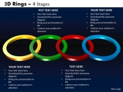 Marketing Diagram 3d Rings 4 Stages Business Finance Strategy Development