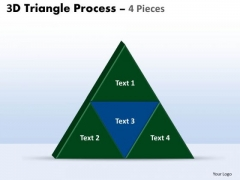 Marketing Diagram 3d Triangle Process 4 Pieces Consulting Diagram