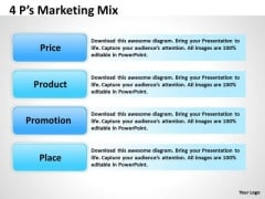 Marketing Diagram 4 Ps Marketing Mix Business Diagram