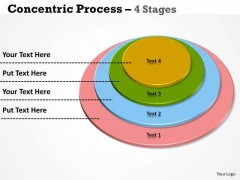 Marketing Diagram 4 Staged Multicolored Process Diagram Strategy Diagram