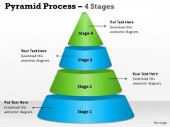 Marketing Diagram 4 Staged Triangle Independent Process Business Framework Model
