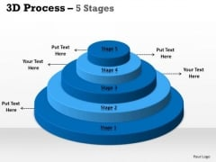 Marketing Diagram 5 Staged Business Process Control Sales Diagram