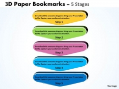 Marketing Diagram 5 Stages Bookmarks Diagram Business Cycle Diagram
