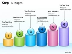 Marketing Diagram 6 Steps For Business Growth Process Consulting Diagram