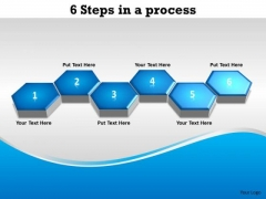 Marketing Diagram 6 Steps For Linear Process Business Cycle Diagram