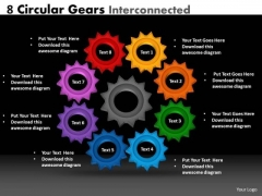Marketing Diagram 8 Circular Gears Interconnected Mba Models And Frameworks