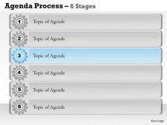 Marketing Diagram Agenda Process 6 Stages Consulting Diagram